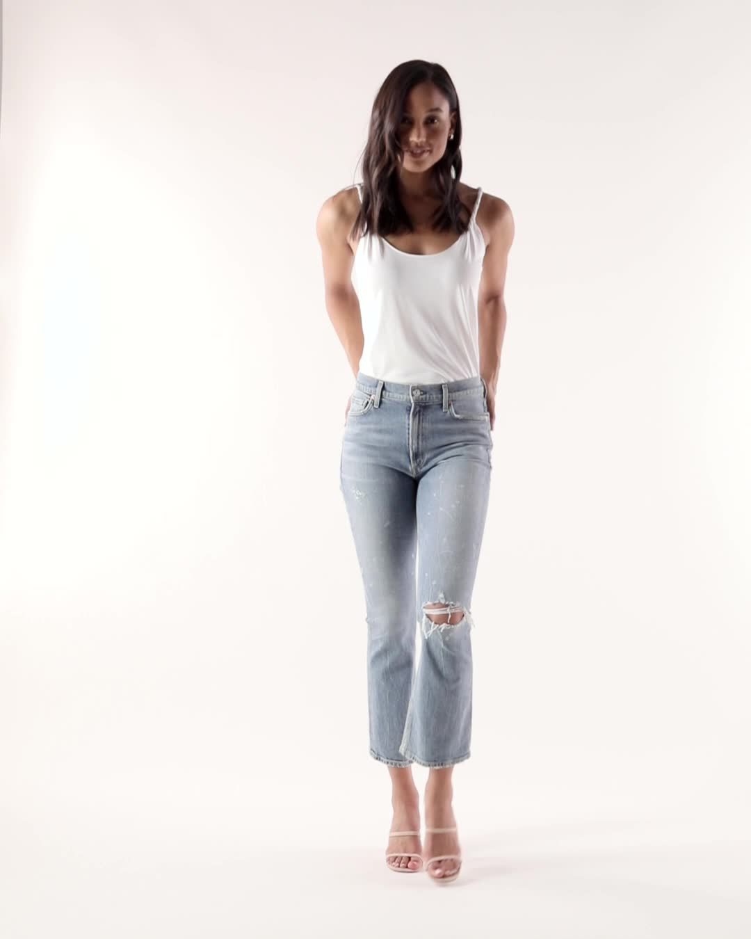 Citizens of Humanity Demy Cropped Flare Jeans product video