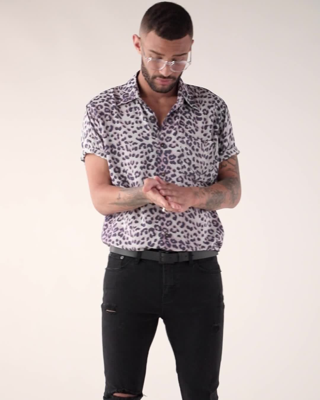 The People Vs. Stevie Leopard Button Up Shirt product video