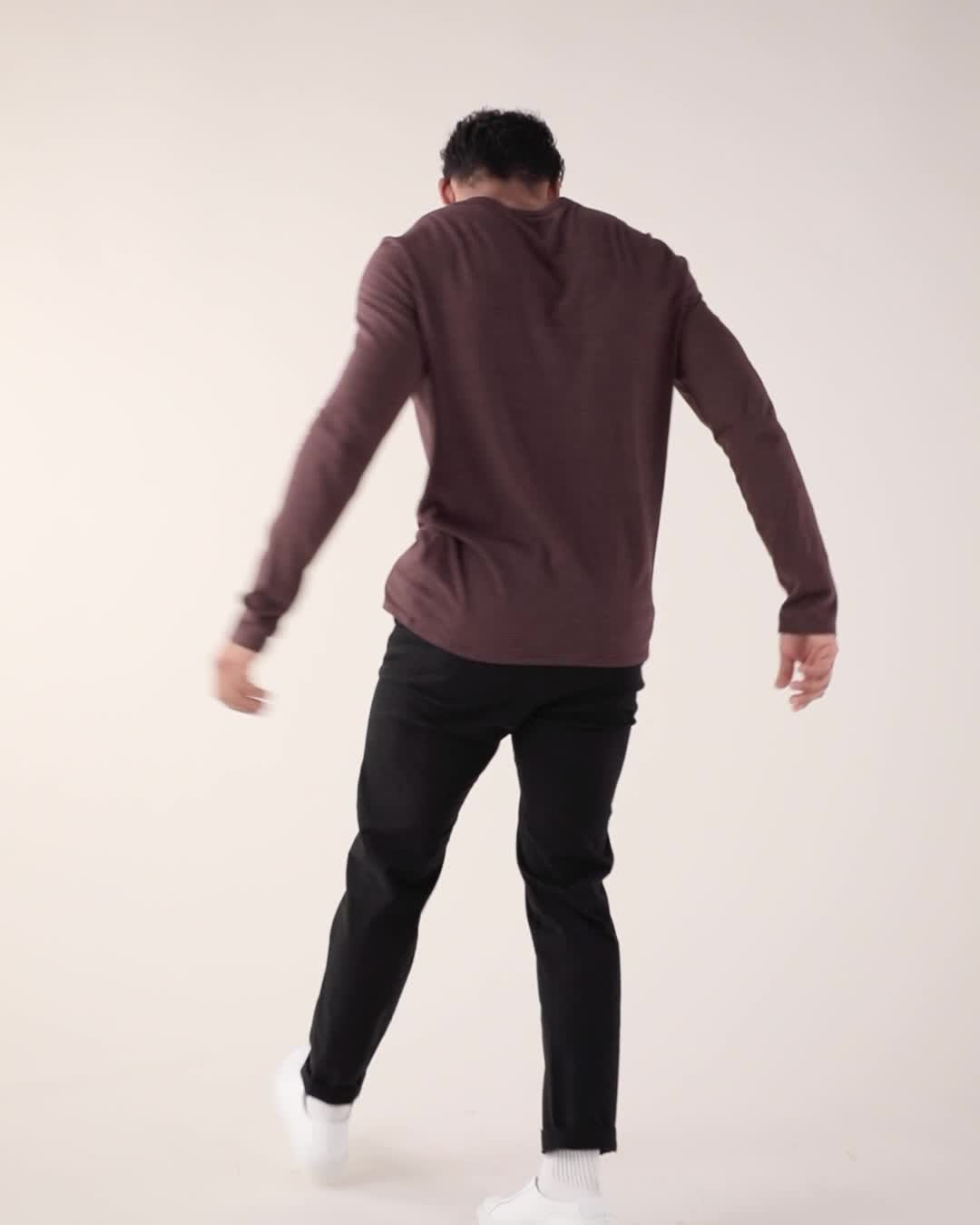 ATM Anthony Thomas Melillo Stripe Long Sleeve Jersey Henley product video