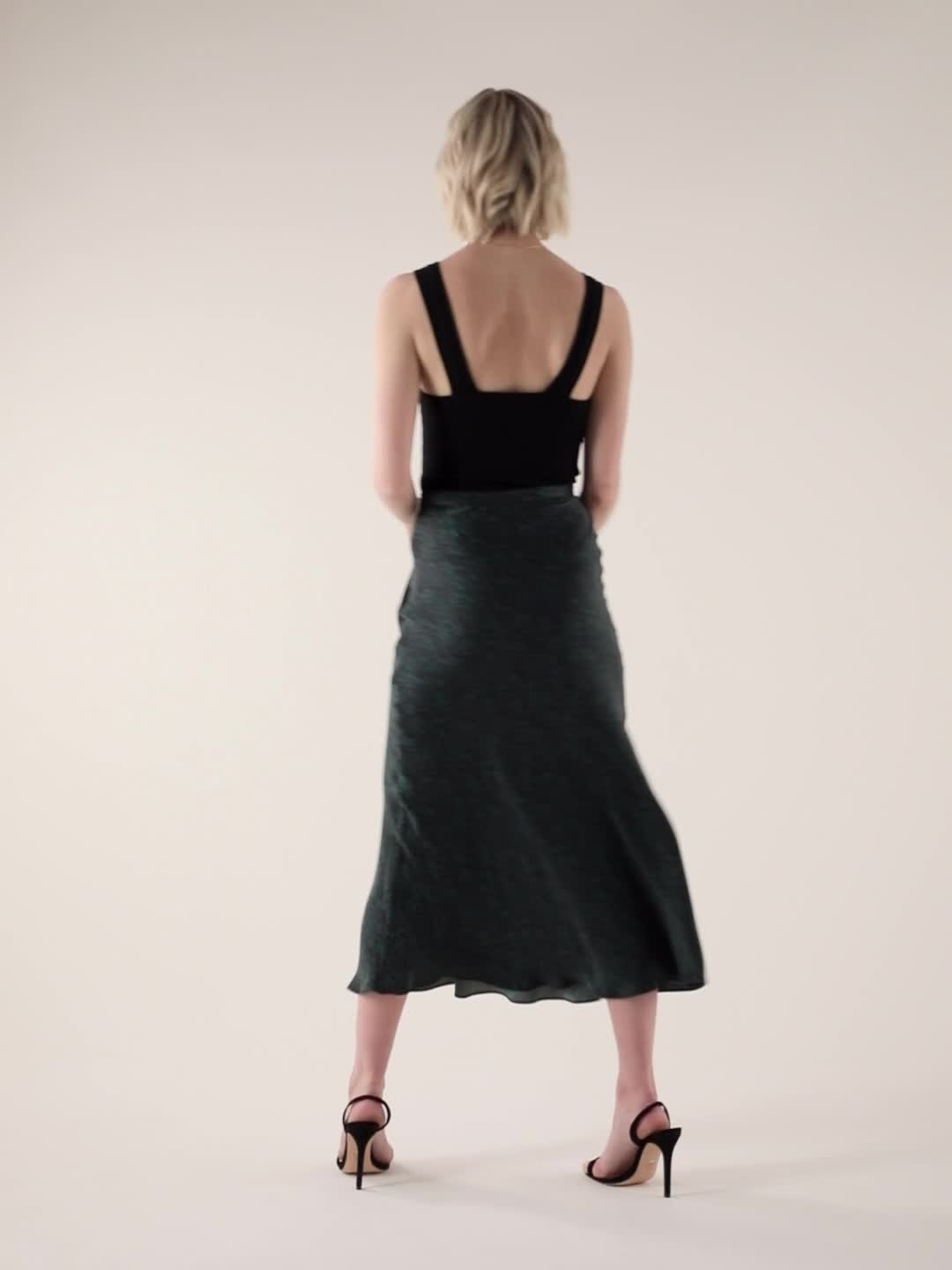 Bec & Bridge Animale Fever Silk Bias Skirt product video