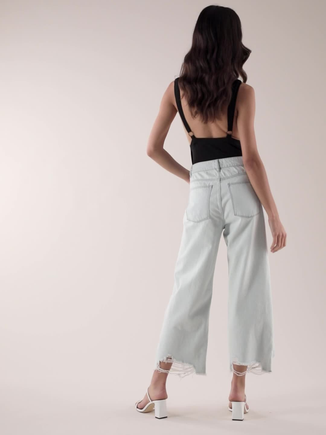DL1961 Hepburn High Rise Wide Leg Jeans product video