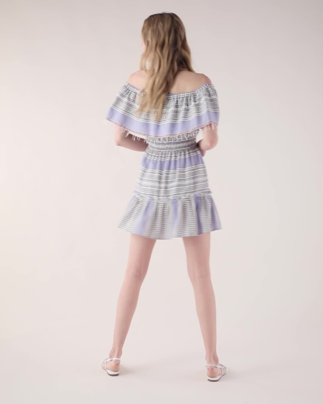 lemlem Amira Off Shoulder Ruffle Dress product video