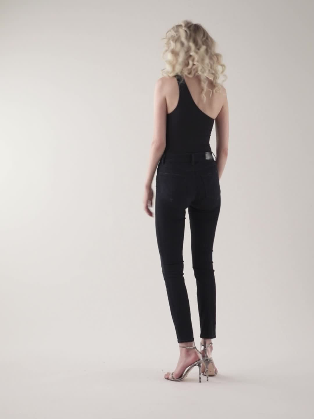 PAIGE Hoxton High Rise Ultra Skinny Jeans product video
