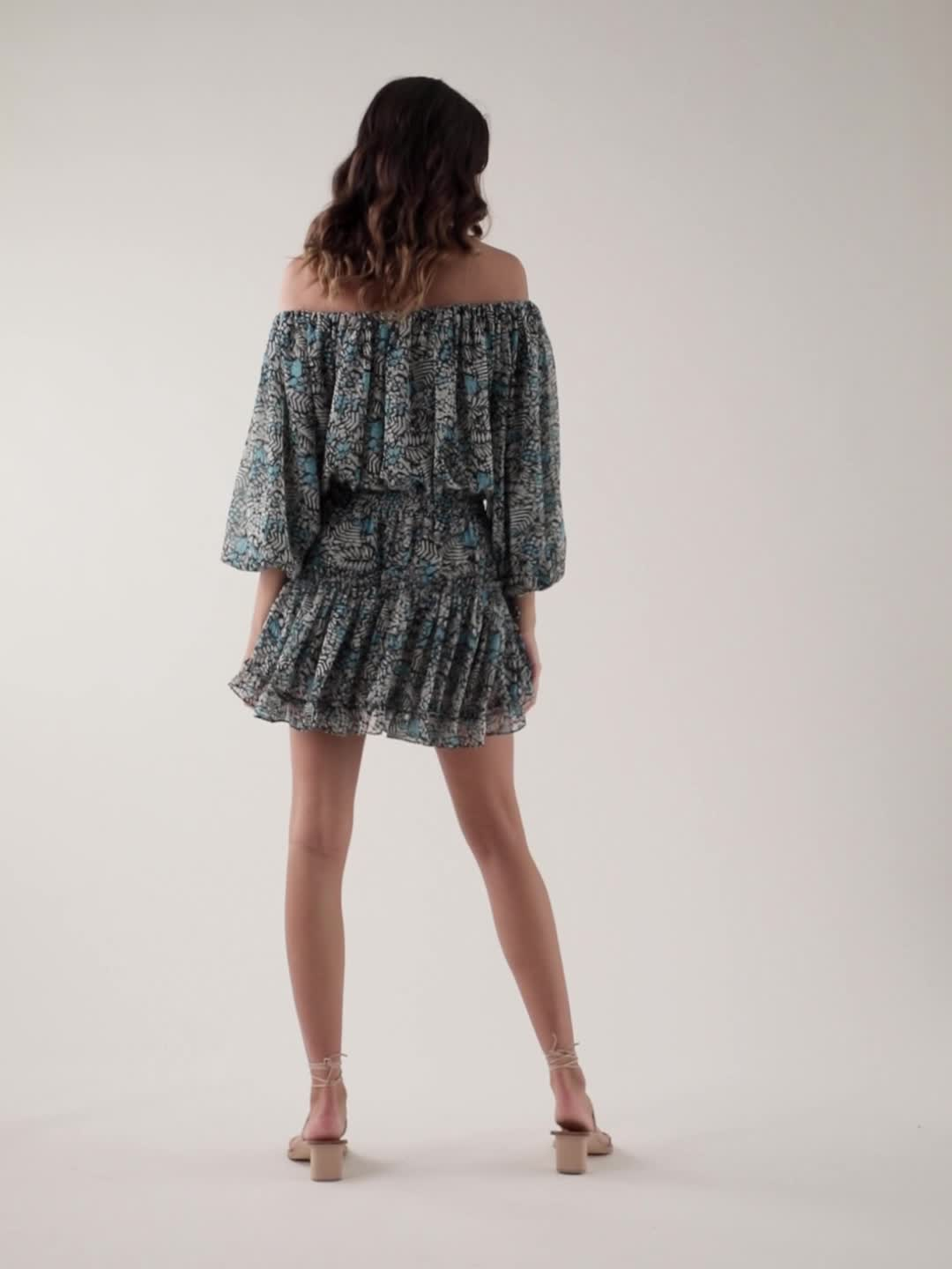 MISA Los Angeles Zonia Off the Shoulder Mini Dress product video